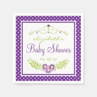 Baby Shower-Floral Paper Napkins