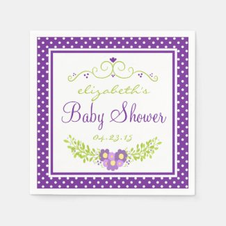 Baby Shower-Floral Paper Napkins