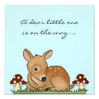 Baby Shower Invite Fawn Deer Cartoon Nature