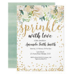 Baby Sprinkle Invitation Card Greenery