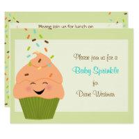 Baby Sprinkle Invitation in Gender Neutral Brights