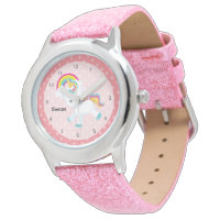Baby Unicorn * Choose your background color Wrist Watch