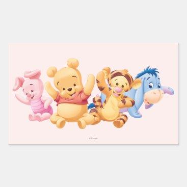 Baby Winnie the Pooh & Friends Rectangular Sticker