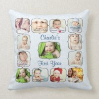Babys First Year Pillows - Decorative & Throw Pillows | Zazzle