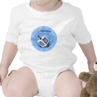 Babys First Chanukah Dreidel Tshirts