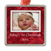 Babys First Christmas Custom Photo Frame Ornament