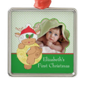 Baby's First Christmas Photo Ornament Reindeer ornament