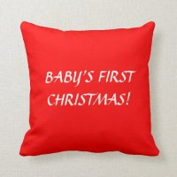 BABY'S FIRST CHRISTMAS PILLOW | Zazzle