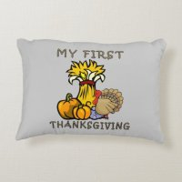 Baby's First Thanksgiving Decorative Pillow | Zazzle