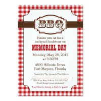 Backyard Barbecue, BBQ Invitation, Rustic Country Card