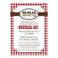 Backyard Barbecue, BBQ Invitation, Rustic Country Card ...