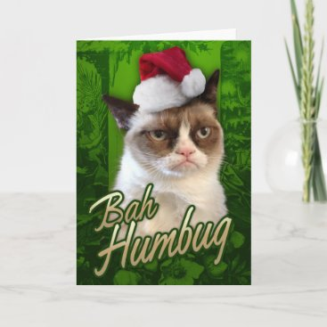 Bah Humbug Grumpy Cat Holiday Card