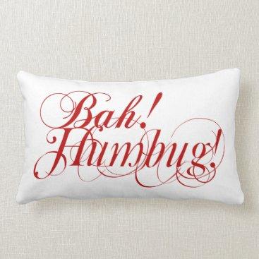 Bah! Humbug! typography lumbar pillow
