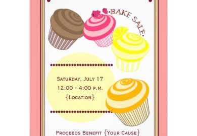 Bake Sale Flyer Cupcakes Zazzle