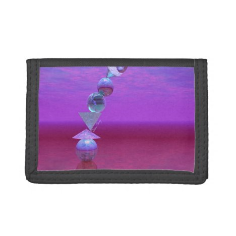 Balancing, Abstract Fuchsia and Violet Equilibrium Trifold Wallet