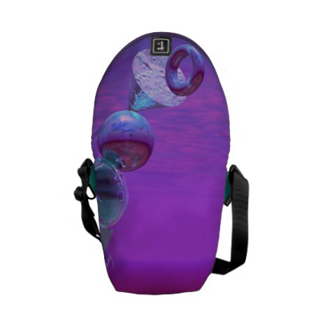 Balancing - Abstract Fuchsia & Violet Equilibrium Messenger Bag