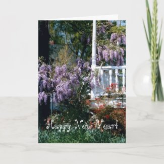 Balcony Lupins New Year Card