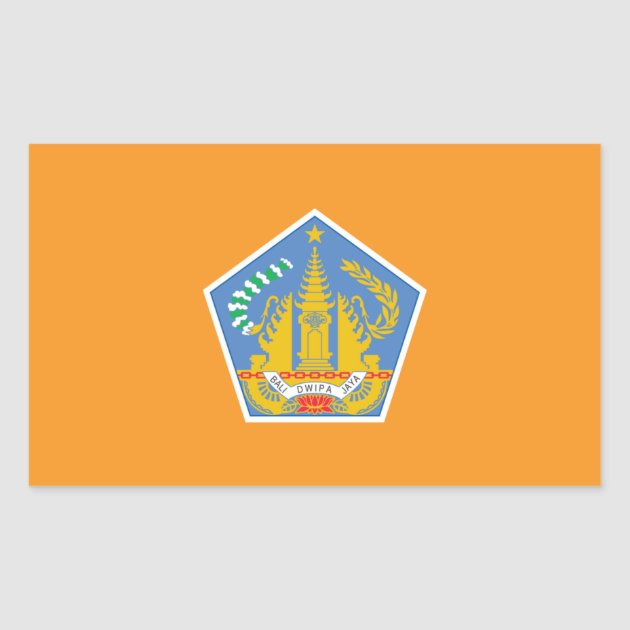 Bali Flag Indonesia Rectangular Sticker Zazzle