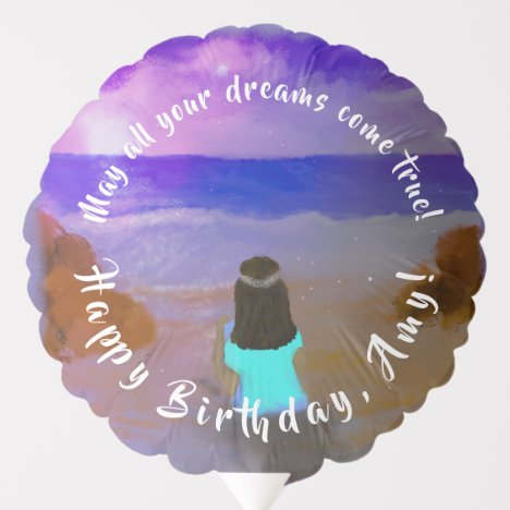 Balloon Big Dreamer! Girls Beach Birthday Painting