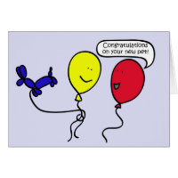 Balloon People Pet Congratulations Card
