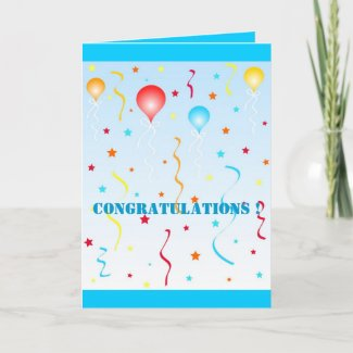 Balloons and stars card
