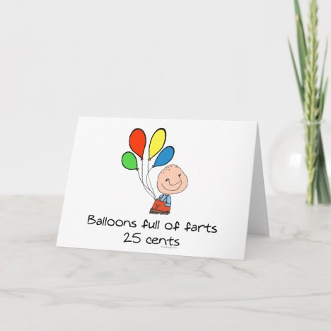 Balloons full of farts card