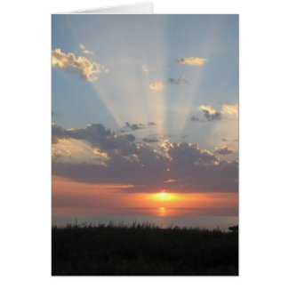 Baltic Sea Sunset with Rays of Light Cards