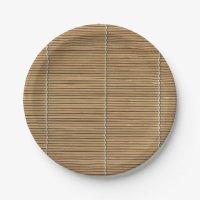 Bamboo Beach Mat 7 Inch Paper Plate | Zazzle