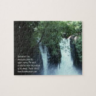 Banias Waterfall and Psalm 104:13 Puzzles