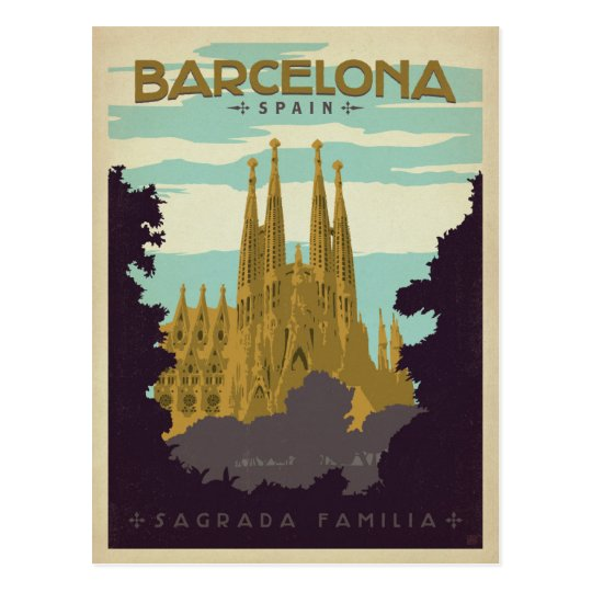 Barcelona Spain Sagrada Familia Postcard Zazzle