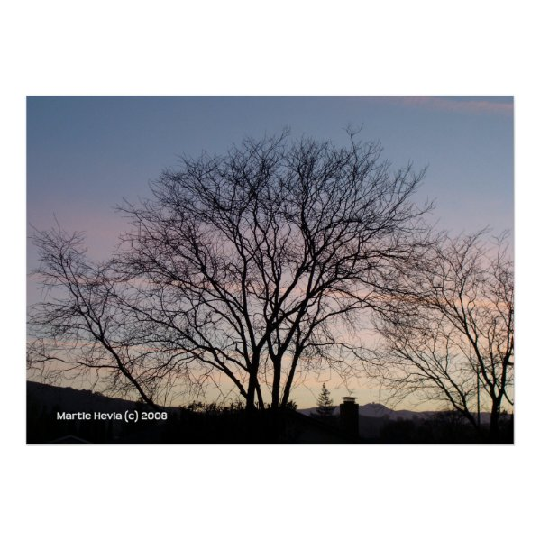 Bare Tree at Dusk print