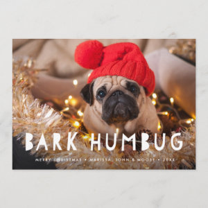 Bark Humbug | Pet Photo Holiday Card
