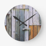 Barn Door Round Clock