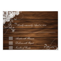 Barn Wood and Lace RSVP Cards