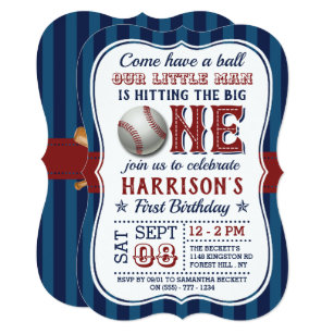 baseball birthday invitations zazzle