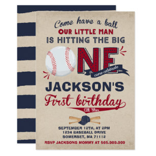 baseball birthday invitation baseball