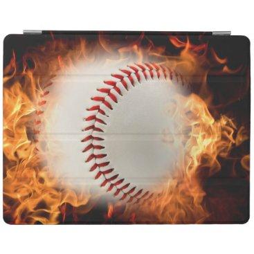 Baseball on fire iPad smart cover