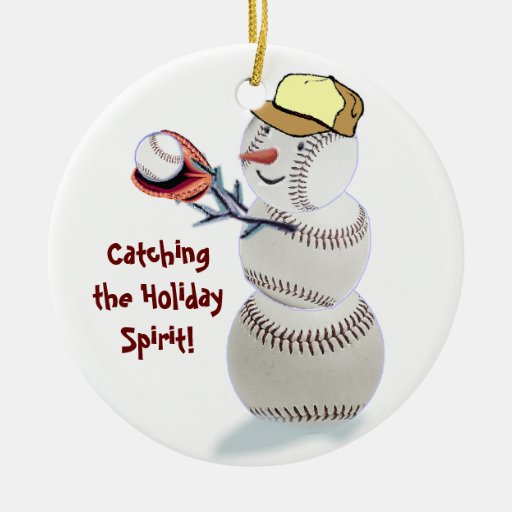 Baseball Snowman Christmas Gifts Ornament Zazzle