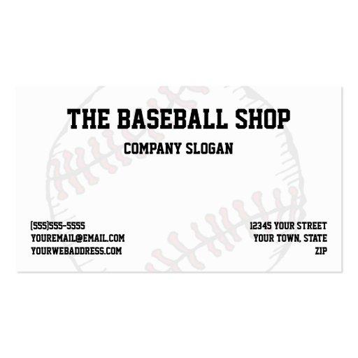 Baseball Softball Sports Theme Business Card Template