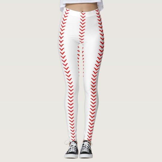 baseball stitches seams leggings