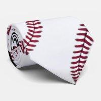 Baseball Tie | Zazzle