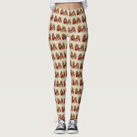 Basset Hound Heart of Love Leggings
