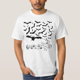 Bat Music Design T-Shirt