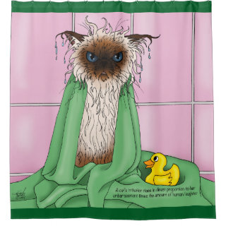 Bathroom Sink Cat Shower Curtain