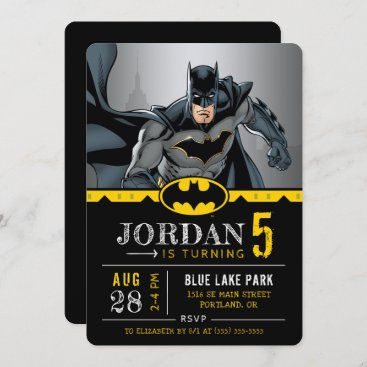 Batman | Chalkboard Happy Birthday Invitation