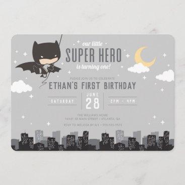 Batman Super Hero First Birthday Invitation