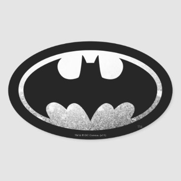 Batman Symbol | Grainy Logo Oval Sticker