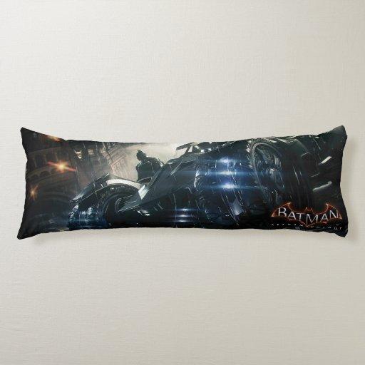 Batman With Batmobile In The Rain Body Pillow