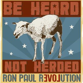 'Be Heard' Ron Paul Button zazzle_button