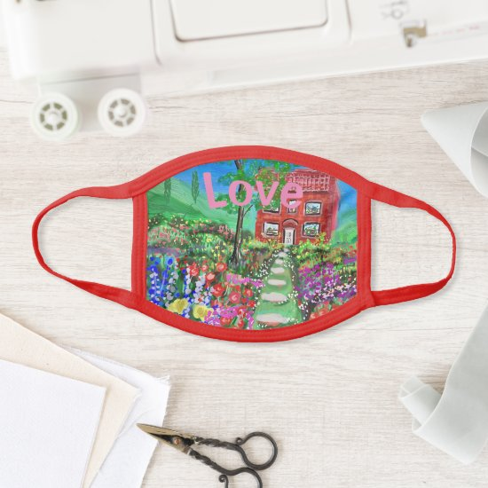Be Kind Cottage in the Woods with beautiful garden Face Mask